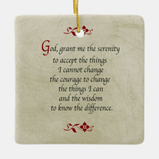 Serenity Prayer/Vintage Style/Double sided Ceramic Ornament