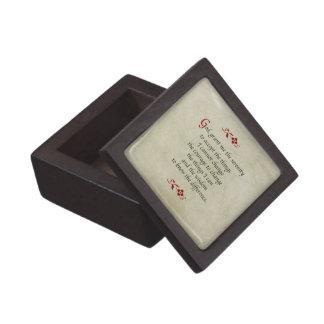 Serenity Prayer/Vintage Style Jewelry Box