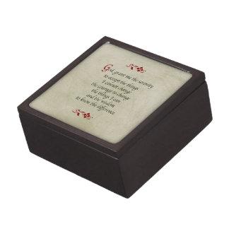 Serenity Prayer/Vintage Style Keepsake Box