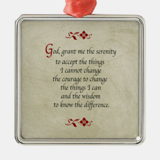 Serenity Prayer/Vintage Style Metal Ornament