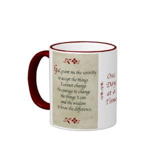 Serenity Prayer/Vintage Style Ringer Coffee Mug