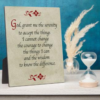 Serenity Prayer/Vintage Style Plaque