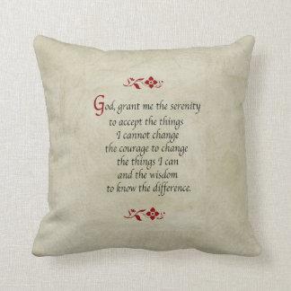 Serenity Prayer Vintage Style Throw Pillow