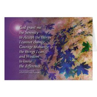 Serenity Prayer Violet Leaves Card