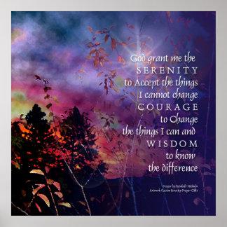 Serenity Prayer Vivid Sunrise Print