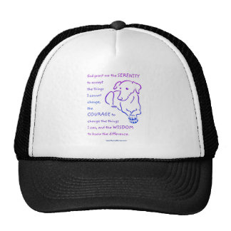 Serenity Prayer w/dog caps and hats