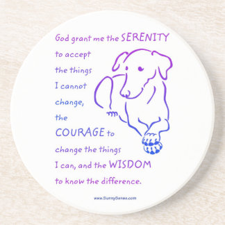 Serenity Prayer w/Dog Coasters
