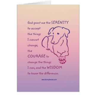 Serenity Prayer w/Dog Greeting Card