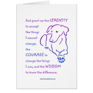 Serenity Prayer w/Dog greeting cards