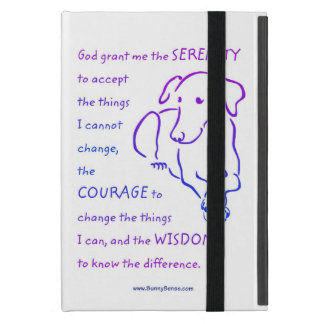 Serenity Prayer w/Dog iPad Mini Cover