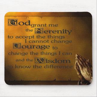 Serenity Prayer w/ Praying Hands Mouse Pad