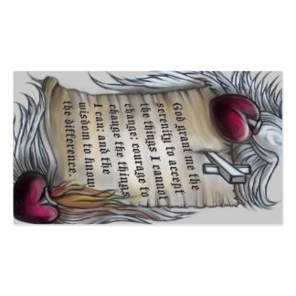 Serenity Prayer wallet card, note lines on back Business Cards