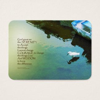 Serenity Prayer Water and White Bird Business Card