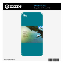 Serenity Prayer Water and White Bird Decals For iPhone 4