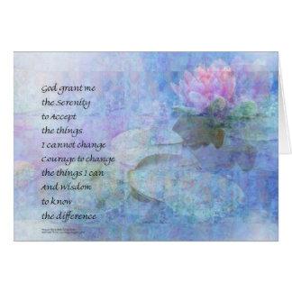 Serenity Prayer Water Lily Wonders Card