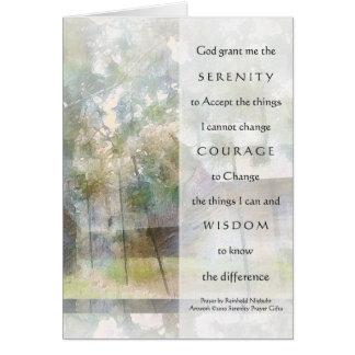 Serenity Prayer Watercolor Barn Greeting Card