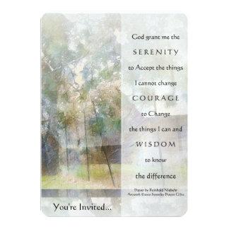 Serenity Prayer Watercolor Barn Invitation