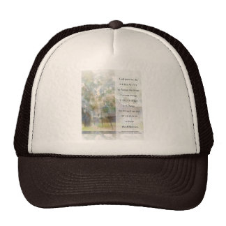 Serenity Prayer Watercolor Barn Trucker Hat