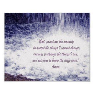Serenity Prayer-waterfalls print