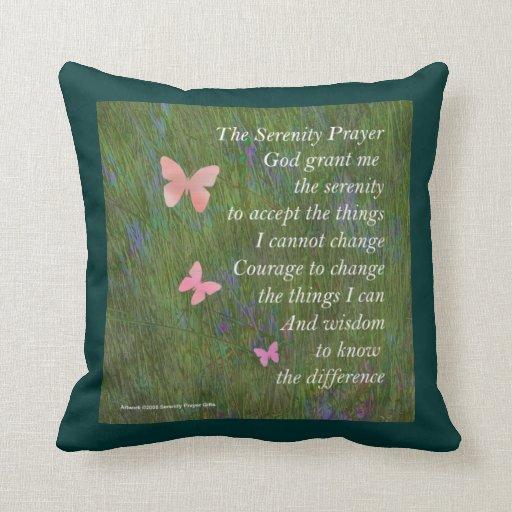 Serenity Prayer Wetlands American MoJo Pillow
