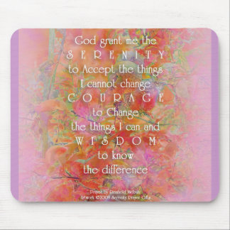 Serenity Prayer Wild Apple Abstract Mouse Pad