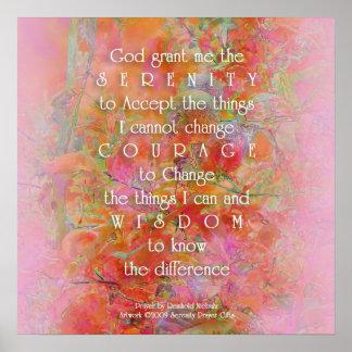 Serenity Prayer Wild Apple Abstract Poster
