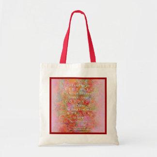 Serenity Prayer Wild Apple Abstract Tote Bag