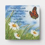 Serenity Prayer -  Wild Daisies & Monarch Plaque