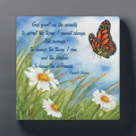 "Serenity Prayer -  Wild Daisies &amp; Monarch Plaque<br><div class=""desc"">This plaque features &quot;The Serenity Prayer&quot; with wild daisies and a Monarch butterfly in the background. The plaque would be a nice gift for anyone who appreciated this prayer and loves nature.</div>"
