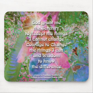 Serenity Prayer Wild Iris3 Mouse Pad