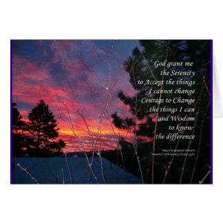 Serenity Prayer Winter Sunrise Card