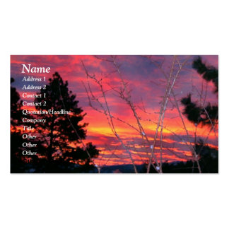 Serenity Prayer Winter Sunrise Profile Card Business Card