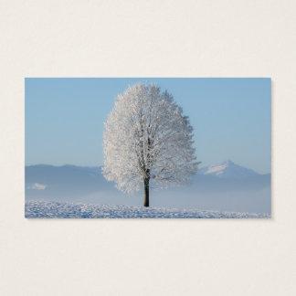 Serenity Prayer Winter Tree Business Card