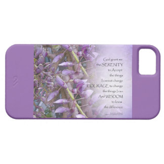 Serenity Prayer Wisteria iPhone SE/5/5s Case
