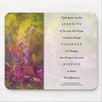 Serenity Prayer Wisteria Mouse Pad
