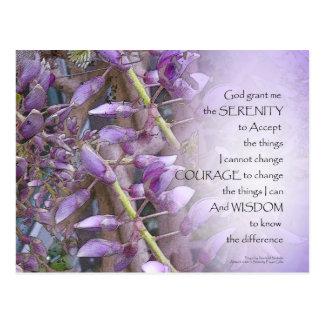 Serenity Prayer Wisteria Postcard