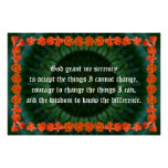 Serenity Prayer with a Pomegranate Border Print