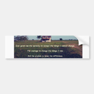 Serenity Prayer with American Farmhouse Bumper Sticker