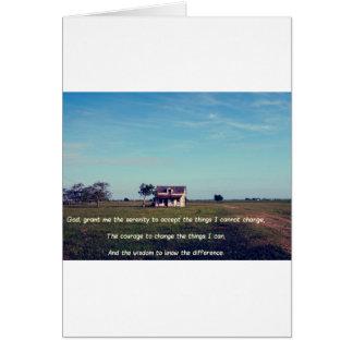 Serenity Prayer with American Farmhouse Card