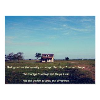 Serenity Prayer with American Farmhouse Postcard