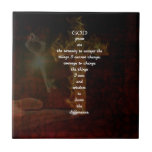 "Serenity Prayer With Beautiful Christian Art Ceramic Tile<br><div class=""desc"">Serenity Prayer Inspirational Quote With Beautiful Christian Art