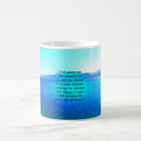 Serenity Prayer With Blue Ocean and Amazing Sky Coffee Mug