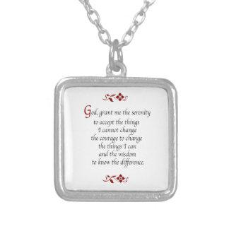 Serenity Prayer-with Burgundy Detail Custom Jewelry