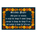 Serenity Prayer with Calendula Frame Posters