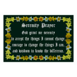 Serenity Prayer with Daffodil Frame Print
