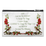 Serenity Prayer With Nature Border: Hand Drawn Travel Accessories Bag
