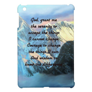 Serenity Prayer With Panoramic View Mount Everest Case For The iPad Mini
