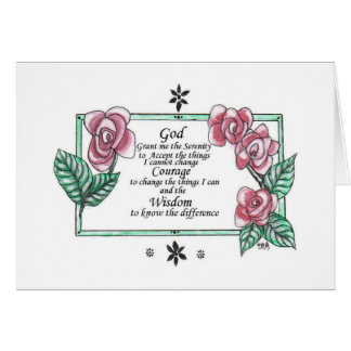 serenity Prayer with roses Card