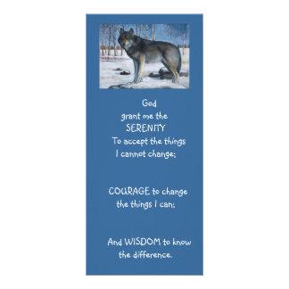 SERENITY PRAYER: Wolf: ART, PAINTING Rack Card