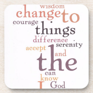 Serenity Prayer Word Art Coaster